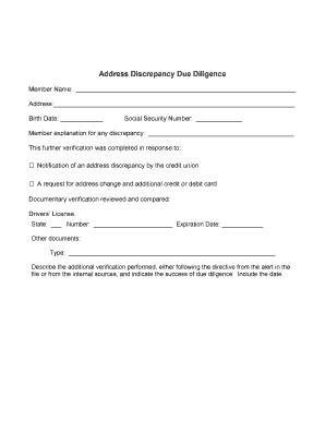letter explanation address discrepancy template