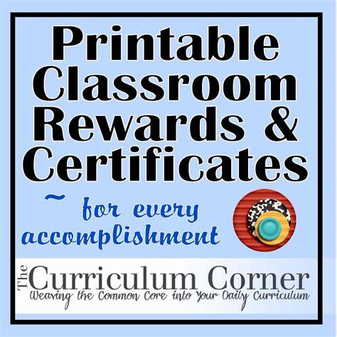 Free Printable Award Tickets | rewards certificates the curriculum corner 123
