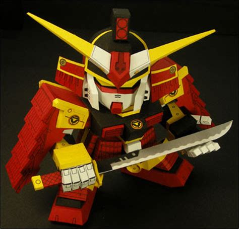 papercraft world samurai gundam paper model paper