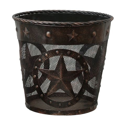 waste basket stars studs metal waste basket
