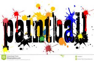 paintball concept vector illustration with colors stock