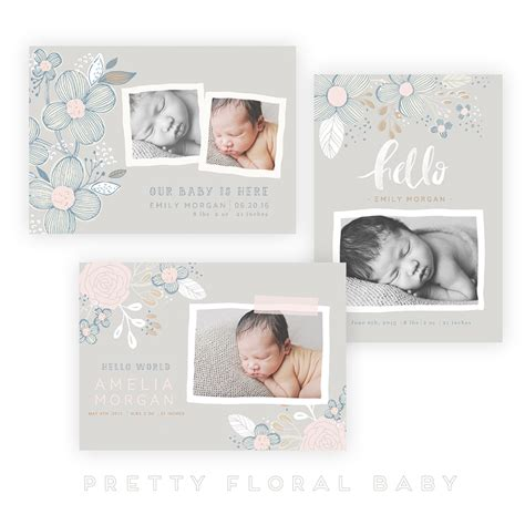 Whcc Card Templates by Pretty Floral Baby 5x7 Whcc Cards Oh Snap Boutique