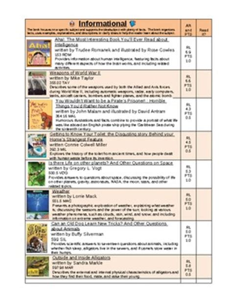 printable nonfiction bookmarks genre informational nonfiction book list and bookmark by