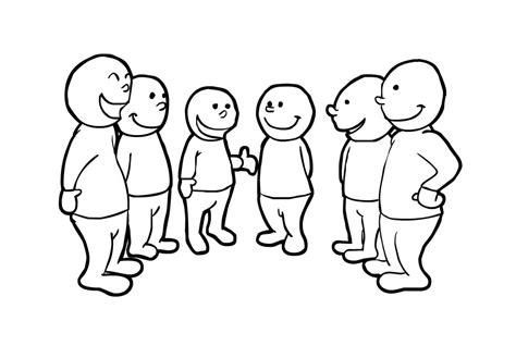 dibujos para colorear grandes dibujo para colorear hablar en grupo img 14835