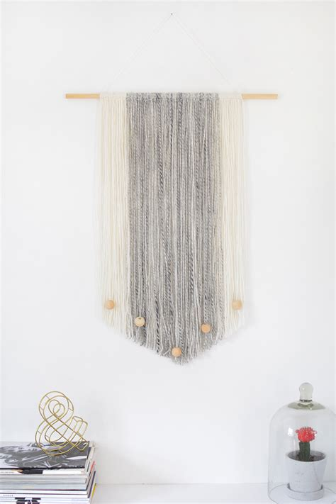 Wall Hangings - diy yarn wall hanging burkatron