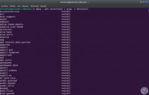 ubuntu awk tutorial c 243 mo ver listado de paquetes instalados en linux ubuntu