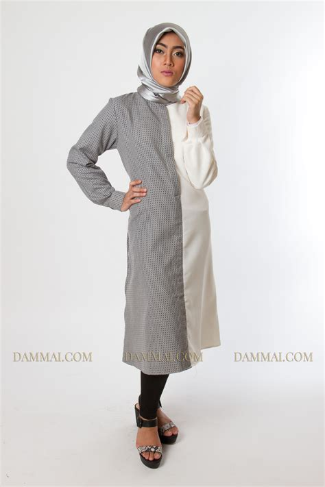 modern grey white tunik dammai