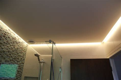 strip lighting for bathrooms led strip in bathroom ceiling it used as main light