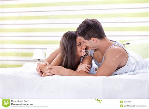 love in bed love couple in bed stock image image 30949991