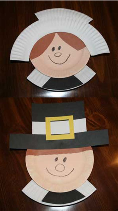 Paper Plate Pilgrim Craft - thanksgiving pilgrim crafts made from
