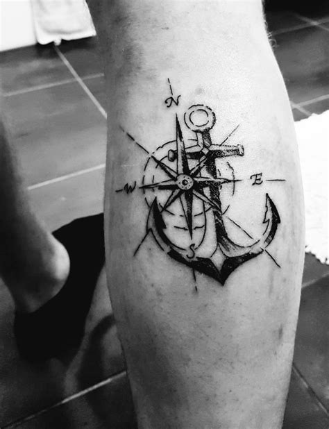 compass and anchor tattoo best 25 anchor compass ideas on