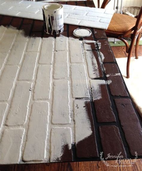 painting a fireplace insert painting faux brick for a faux fireplace insert diy and