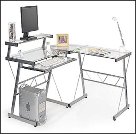 Select The Perfect Glass Computer Desk Glass L Shaped Computer Desk