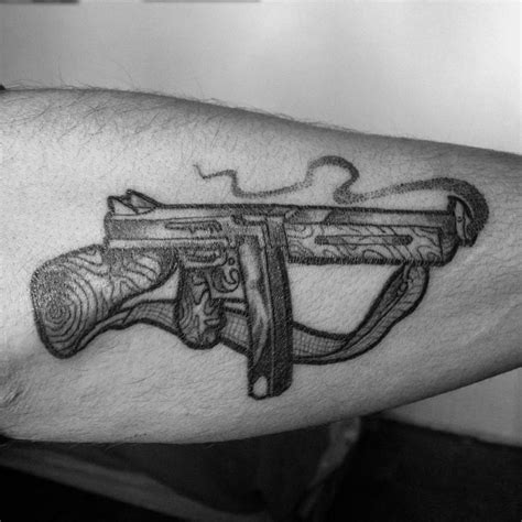 tommy gun tattoo 50 gun ideas for firearm designs