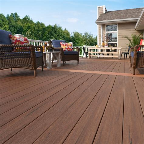 a zek lumber at lowes azek vintage collection in mahogany premier rail in white traditional deck new york by