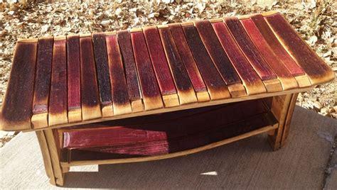 bench wine hand made wine barrel bench by alpine wine design custommade com