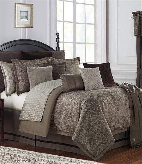 waterford glenmore pebble paisley jacquard reversible comforter set dillards