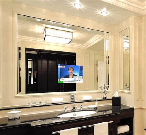 Tv In A Mirror Bathroom How To Hide Tv In Plain Sight 5 Tips And Tricks Shelterness