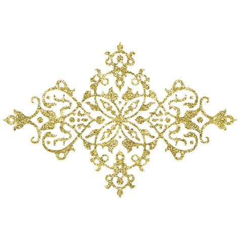 Golden Pattern Png | free illustration gold authentic silvery pattern