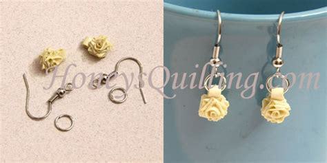 paper quilling rose earrings tutorial tiny paper rose earrings free paper quilling tutorial