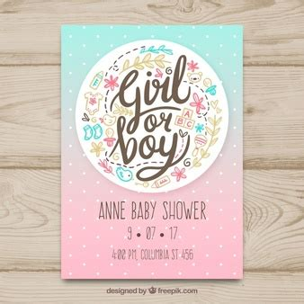 baby shower card template psd baby shower vectors photos and psd files free