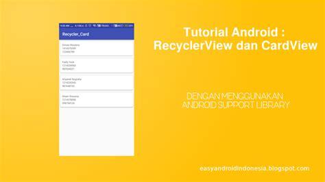 tutorial android studio español tutorial android recyclerview dan cardview easyread