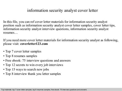 Information Security Cover Letter information security analyst cover letter