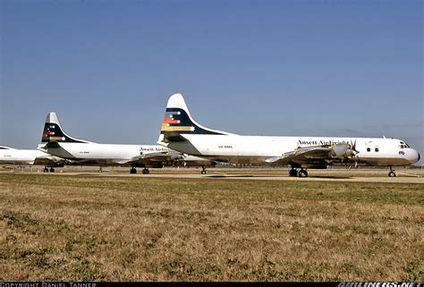 ansett air freight lockheed l 188a f electra aircraft picture 1984 cargo airlines ansett