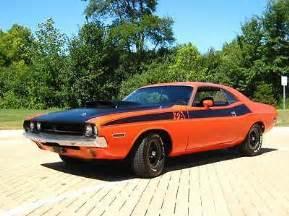 1971 dodge challenger t a big block 4speed orange