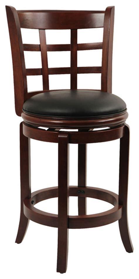 boraam kyoto swivel stool in cherry 24 inch