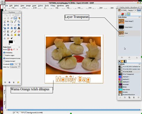 membuat gambar transparan gimp tutorial gimp membuat background transparan think bilal