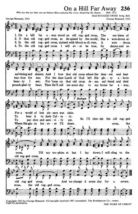 on a hill far away stood an rugged cross hymns for the living church 236 on a hill far away stood an rugged cross hymnary org