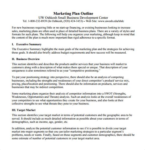 business plan report template sle marketing report 9 documents in pdf word