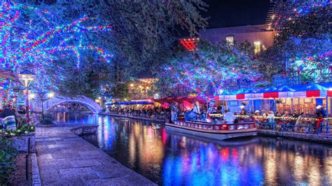 the san antonio riverwalk at christmas time we don t