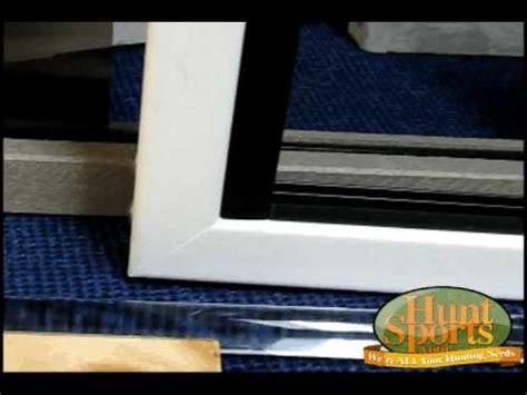 Bow Window Vertical Blinds build your own deer blind windows plans deerblind slider