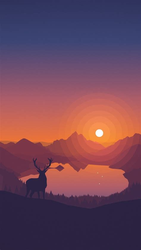 minimal sunset forest iphone wallpaper iphone wallpapers