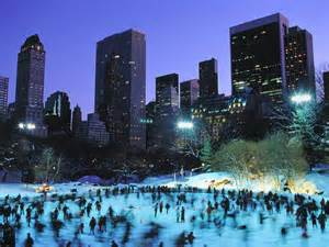 ice skating on wollman rink central park