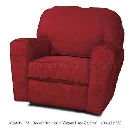 modern rocker recliners red fabric elegant modern rocker recliner