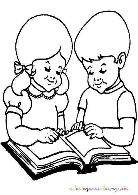 coloring page girl reading free girl reading coloring pages