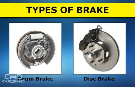 Car Types Of Brakes by How To Differentiate Braking Systems In Automobiles
