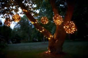 trees with lights diy creating character with outdoor lighting soulful abode