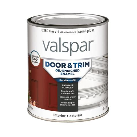 Interior Based Paint by Shop Valspar Door And Trim Semi Gloss Based Enamel