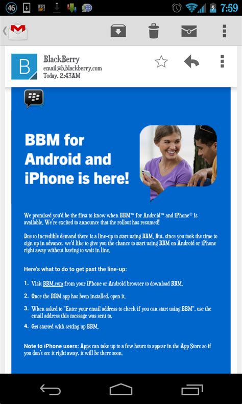 bbm messenger for android official blackberry messenger bbm released for android ios