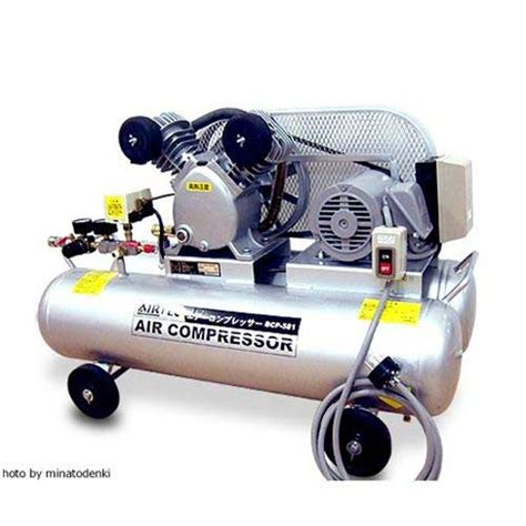 minatodenk air technical center air compressor bcp 581t belonging to three aspect 200v