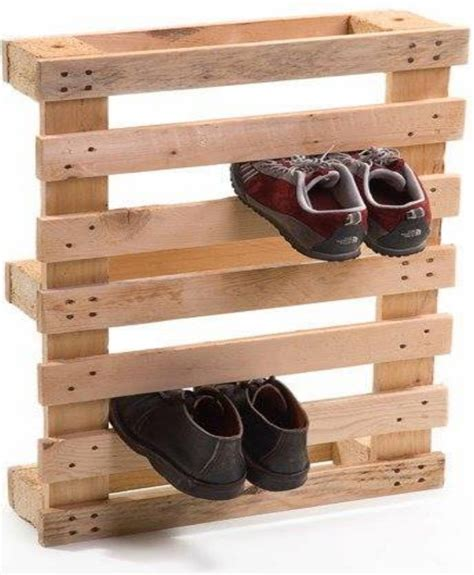 pallet shoe storage design a stylish shoe rack with pallet wood pallet ideas