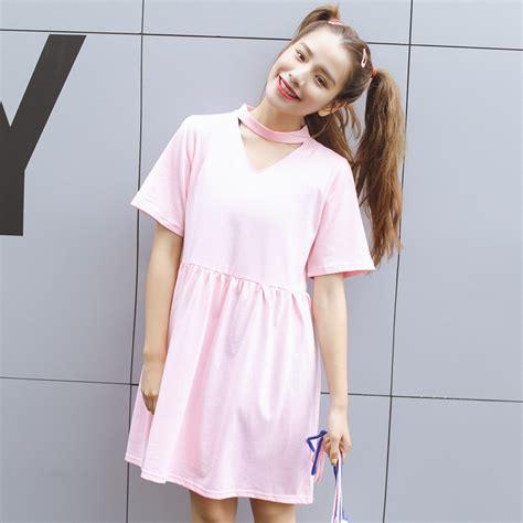Dress Korea Pink 3 cheap clothes china harajuku dresses korean new kawaii rock summer dress 2016 pink