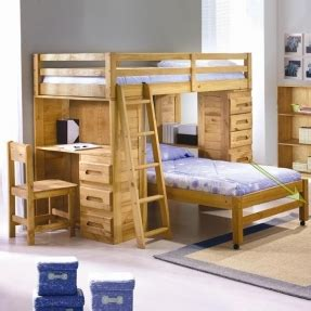 Wooden Bunk Beds With Desk And Drawers by Bunk Bed With Desk And Drawers Foter