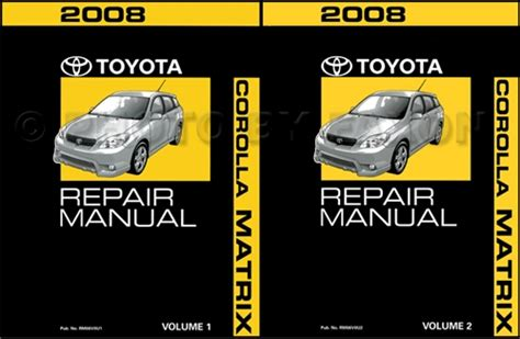 what is the best auto repair manual 2008 volkswagen jetta electronic toll collection 2008 toyota matrix repair shop manual original 2 volume set