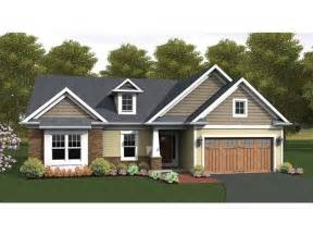 two bedroom house eplans ranch house plan craftsman accented ranch 1818