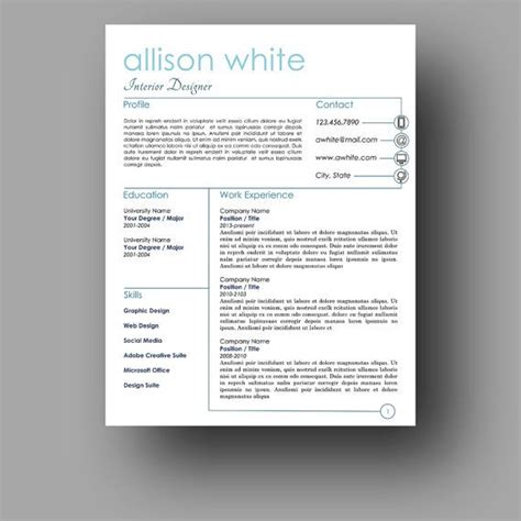 Resume Template Etsy by 127 Best Resume Templates Etsy Images On